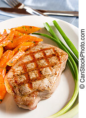 grilled, kotelet, varkensvlees
