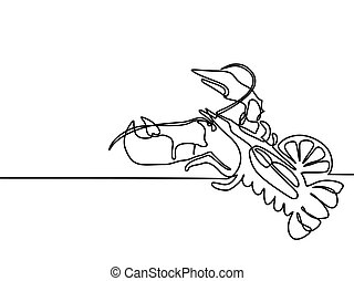 Grilled lobster. Continuous line drawing.