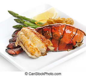 grilled, lobster staart