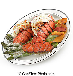Grilled Lobster Tail Plate - Grilled Lobster Tail Served...