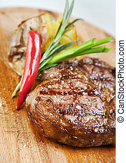 Grilled meat  - Grilled meat, macro