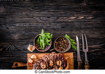 Grilled meat on a table