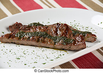 grilled meat on the plate