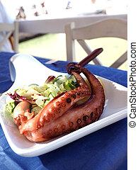 grilled octopus as seen in Greek Island Sifnos taverna