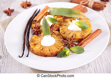 grilled pineapple with spices