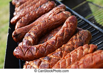 Grilled Polish Sausages
