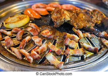 grilled pork belly korean barbecue