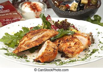 Grilled pork sirloin teriyaki style