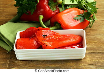 grilled red bell pepper