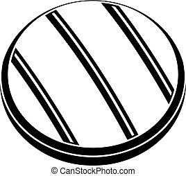 Grilled round beef steak icon simple