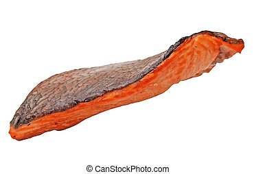 grilled salmon piece