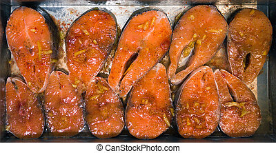 grilled salmon red fish