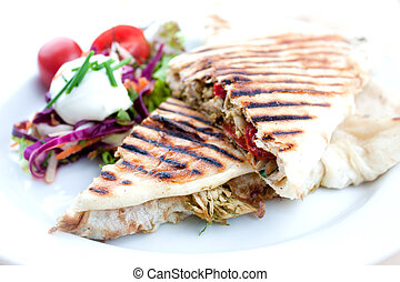 Grilled sandwich or panini - Two Grilled sandwiches or...