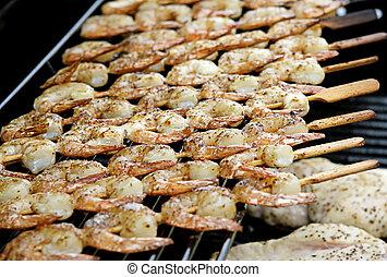 Grilled Shrimp Closeup
