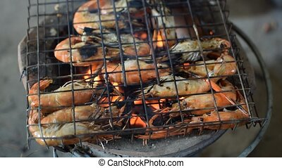 Grilled shrimp (Giant freshwater pr