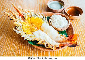 Grilled shrimp or prawn
