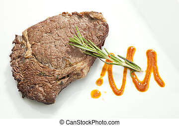 Grilled Sirloin steak with rosemary