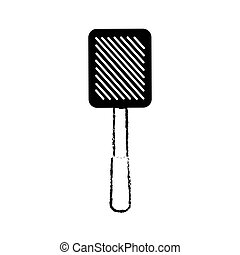 grilled spatula utensil kitchen outline