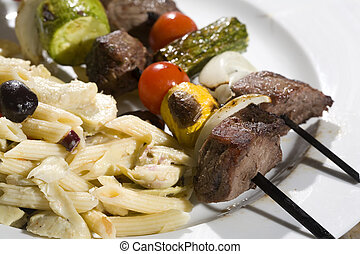 Steak and Vegetable Skewers