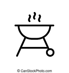 grilled  thin line icon