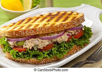 Grilled Tuna Panini Sandwich - Tuna Panini Sandwich....