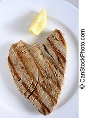 Grilled tuna steak