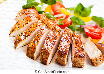 Grilled Turkey Breast with salad