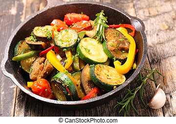 grilled vegetable and herbs, ratatouille