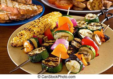 grilled, vegetables