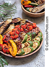 Grilled vegetables platter