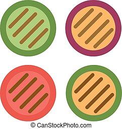 Grilled vegetables vector illustration. - Grilled vegetables...