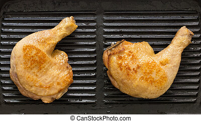 grillere kylling, ben