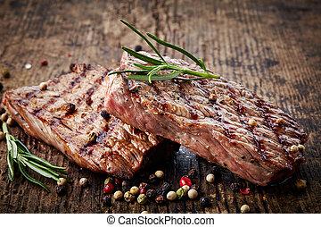 grillezett, hússzelet, izomerő