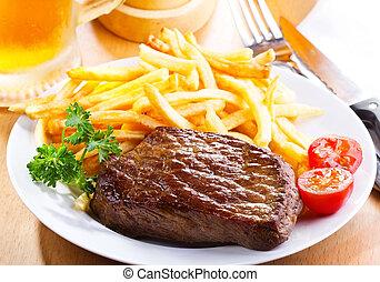 grillezett, hússzelet