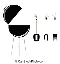 grillfest, vektor, abbildung