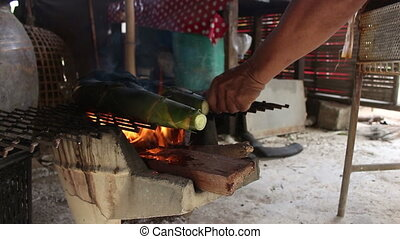 grilling bamboo shoot