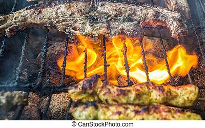 Grilling Lamb Meat