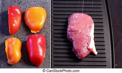 Grilling steak with paprika