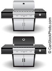 grillsütő, állhatatos, grill