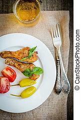 grillsütő csirke, combok