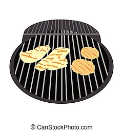 grillsütő, elszigetelt, grill