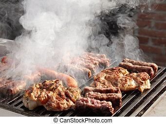 grillsütő, hús