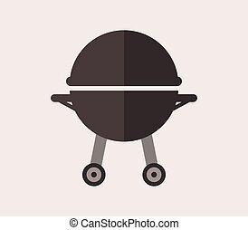 grillsütő, ikon