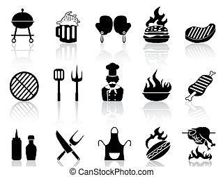 grillsütő, ikonok