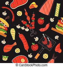 grillsütő, motívum, grill, háttér