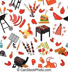 grillsütő, motívum, háttér, grill
