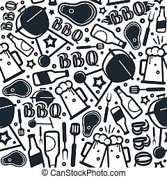 grillsütő, seamless, motívum