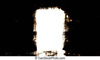 Grim door. Mystic door. Light in the dark. - Grim door....