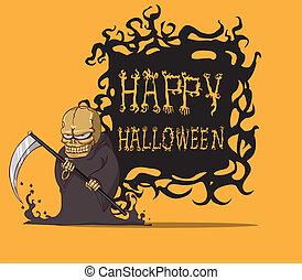 Grim. Halloween monster