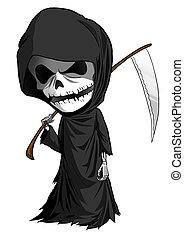 Grim Reaper Cartoon - Cartoon illustration of grim reaper...